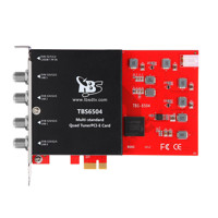 TBS6504 DVB-Multi Standard Quad-Tuner, PCIe TV-Card