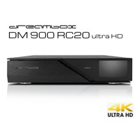Dreambox DM 900 RC 20 ultra HD, 1x Dual S2X MS Tuner